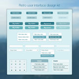 Set of infographic use rinterface UI template Royalty Free Stock Images