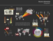 Set of infographic vector Stock Image