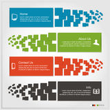 Set of Infographics Stock Photography