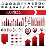 Set of infographics and business icons Stock Image