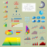 Set of infographics charts Royalty Free Stock Images
