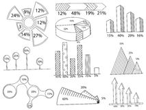 Set of infographics coloring vector Royalty Free Stock Photos