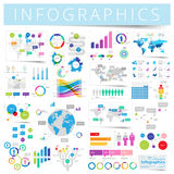 Set of infographics design elements Stock Photos