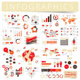 Set of infographics design elements Stock Photography