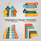Set of infographics design template with 5 options. Vector illustration. Set of infographics design template with place for your data. Vector illustration Stock Illustration