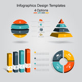 Set of infographics design template with 4 options. Vector illustration. Royalty Free Stock Image