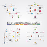 Set of infographics design templates. Vector Royalty Free Stock Images