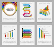 Set Infographics for education brochures and presentations. Vector illustration Royalty Free Stock Image