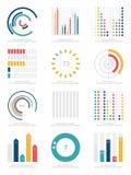 Set of infographics elements. Cartoon vector illustration Stock Photos
