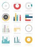 Set of infographics elements. Cartoon vector illustration Royalty Free Stock Photo