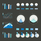 Set of infographics elements charts, graphs, circle charts. Diagrams, speech bubbles. 3D design. Vector Royalty Free Stock Image