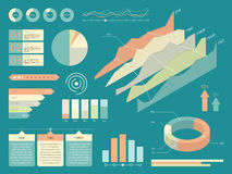 Set Of Infographics Elements. Flat Style Vector Illustration Royalty Free Stock Photos