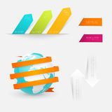 Set of infographics elements in modern flat business style. Royalty Free Stock Photography