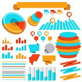 Set of infographics elements and objects Royalty Free Stock Photo