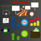 Set of infographics elements. Vector. Stock Image