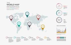 Set of infographics elements - world map, diagrams templates. Stock Photos