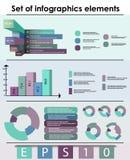 Set infographics elementy Fotografia Stock