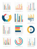 Set infographics elementy Obrazy Royalty Free