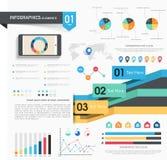Set infographics elementy dla biznesu Obrazy Royalty Free
