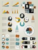 Set infographics flat design elements, folders, speech bubbles, Stock Photography