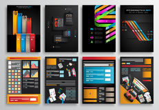 Set of Infographics,  Flyer and Brochure Designs, Stock Image
