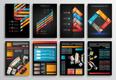 Set of Infographics,  Flyer and Brochure Designs, Royalty Free Stock Image