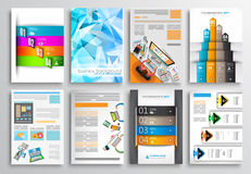 Set of Infographics,  Flyer and Brochure Designs, Royalty Free Stock Photo