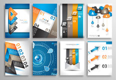 Set of Infographics,  Flyer and Brochure Designs, Stock Photography