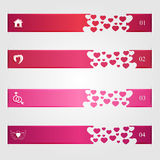 Set of infographics with hearts Royalty Free Stock Photo