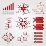 Set of Infographics. Modern design template. Stock Image