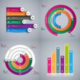 Set Infographics projekta wektorowy szablon royalty ilustracja