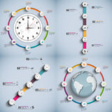 Set Infographics projekta wektorowy szablon ilustracji