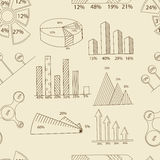 Set of infographics seamless retro vector Stock Images