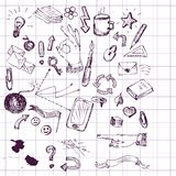 Set of infographics sketch Stock Photos