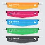 Set infographics szablon postać z kreskówki śmieszny ilustratora ołówek pisze setu wektor Fotografia Stock