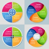 Set of infographics template, abstract colorful circle vector ba. Ckground. Concept for business, diagram, graph, presentation, chart, technology processes Royalty Free Stock Image
