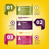 Set for infographics template for business Stock Photos
