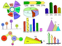 Set of infographics vector Royalty Free Stock Photos