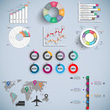 Set of Infographics vector design template Stock Image