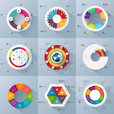 Set of Infographics vector design template Stock Photography