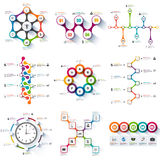 Set of infographics vector design template Royalty Free Stock Image
