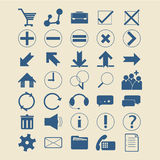 Set Infographics web icons or design elements Royalty Free Stock Image
