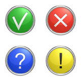 Set of information icons. Over white background stock illustration