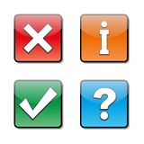 Set of information icons, vector illustration. Stock Photography