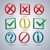 A set of information symbols, vector illustration. Royalty Free Stock Images