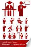 Set informational business icon. Illustration isolated on white background Royalty Free Stock Photography