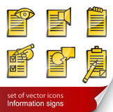 Set informational sign icon Stock Images
