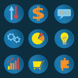 Set informative business icons Royalty Free Stock Image