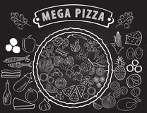 Set of ingredients for pizza. Royalty Free Stock Images