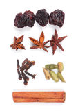 Set of Ingredients for preparation mulled wine Royalty Free Stock Photography